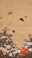 動植綵絵 芍薬群蝶図/伊藤若冲/江戸時代(18世紀)/三の丸尚蔵館