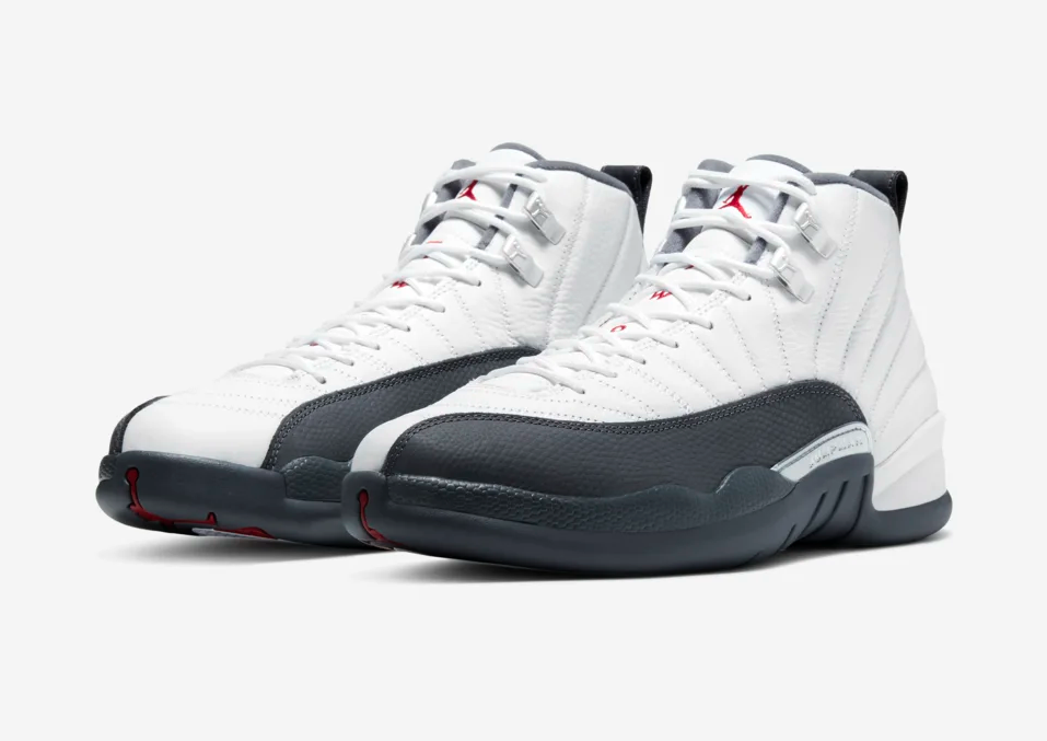 NIKE AIR JORDAN 12 RETRO WHITE/DARK GREY 130690-160