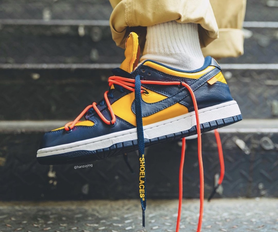 NIKE DUNK LOW OFF-WHITE MICHIGAN UNIVERSITY GOLD/MIDNIGHT NAVY CT0856-700