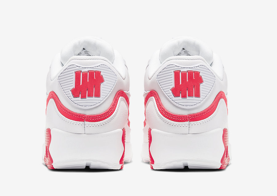 NIKE AIR MAX 90 UNDEFEATED WHITE/SOLAR RED CJ7197-103