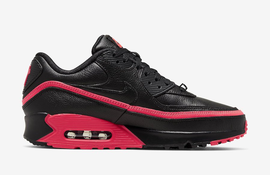 NIKE AIR MAX 90 UNDEFEATED BLACK/SOLAR RED CJ7197-003
