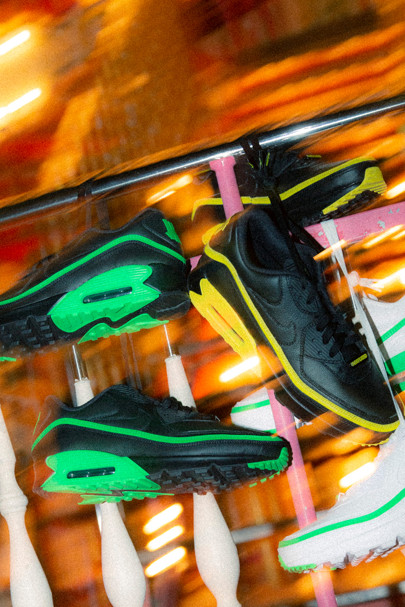 NIKE AIR MAX 90 UNDEFEATED BLACK/GREEN SPARK  CJ7197-004