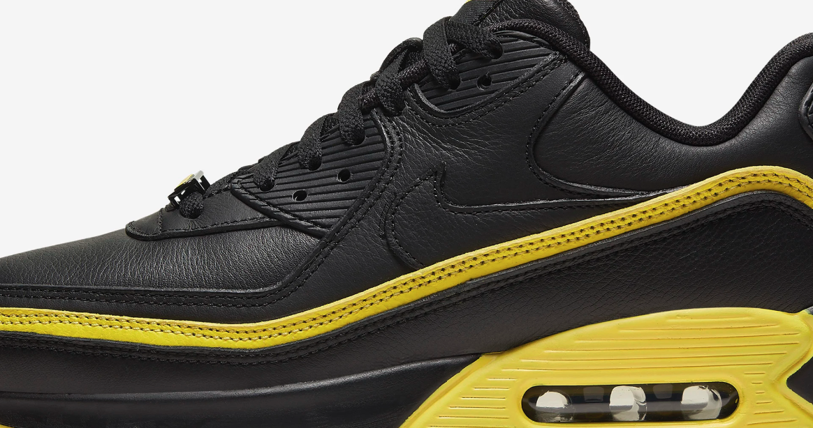 NIKE AIR MAX 90 UNDEFEATED BLACK/OPTI YELLOW CJ7197-001