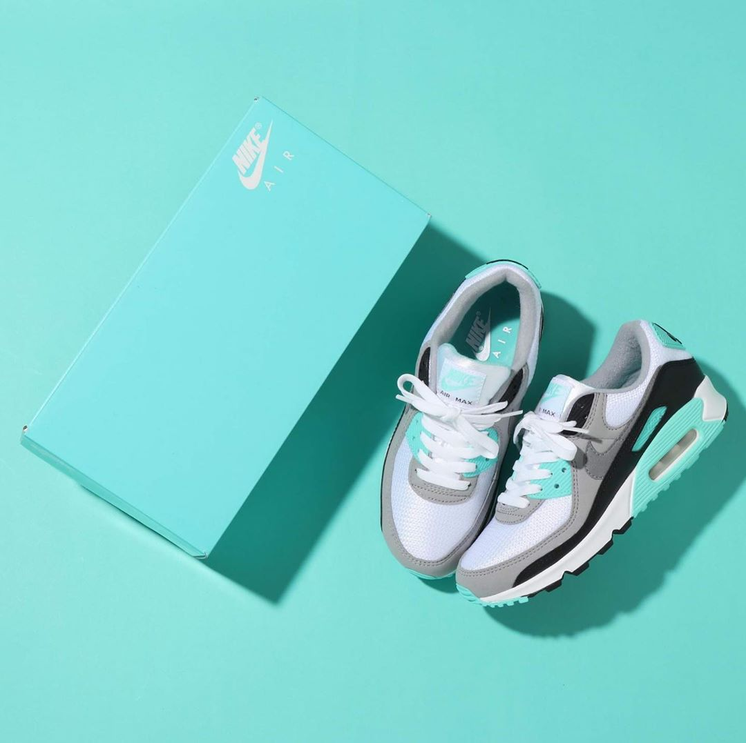 NIKE AIR MAX 90 TURQUOISE/PARTICLE GREY CD0881-100