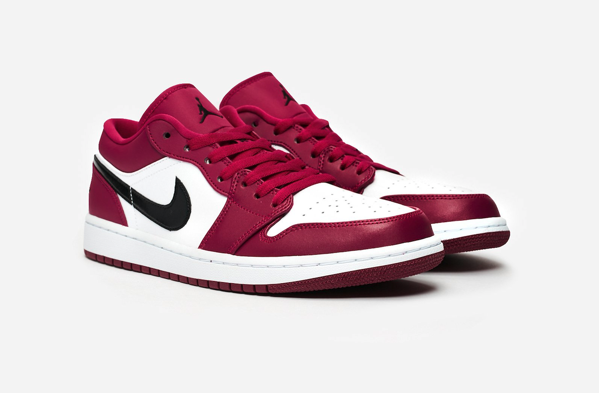 NIKE AIR JORDAN 1 LOW NOBLE RED 553558-604