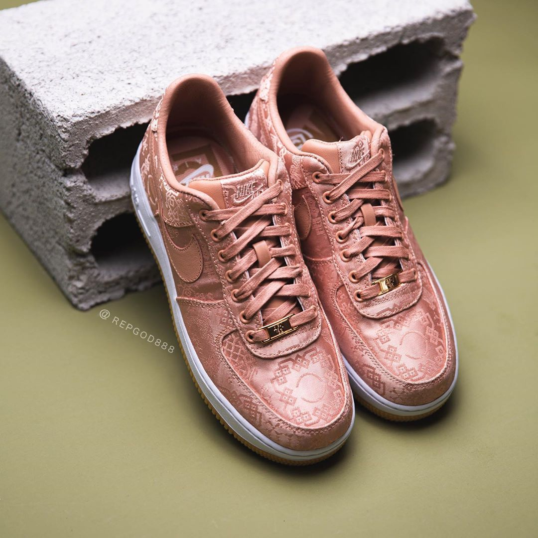 NIKE AIR FORCE 1 LOW CLOT ROSE GOLD SILK CJ5290-600