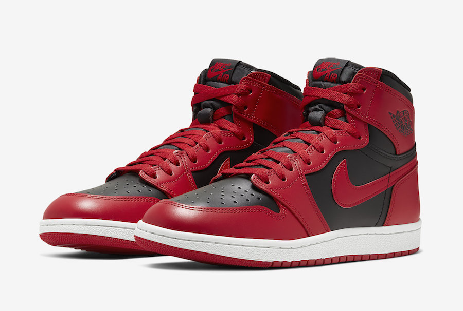NIKE AIR JORDAN 1 HIGH '85 VARSITY RED REVERSE BRED BQ4422-600