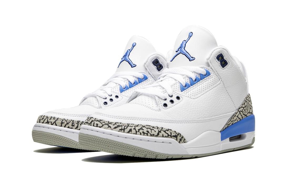 NIKE AIR JORDAN 3 RETRO UNC WHITE/VALOR BLUE CT8532-104