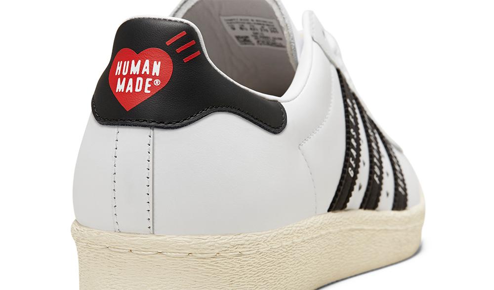 ADIDAS ORIGINALS SUPERSTAR 80S HUMAN MADE FOOTWEAR WHITE/CORE BLACK アディダス オリジナルス スーパースター 80S ヒューマンメイド ホワイト/ブラック FY0728