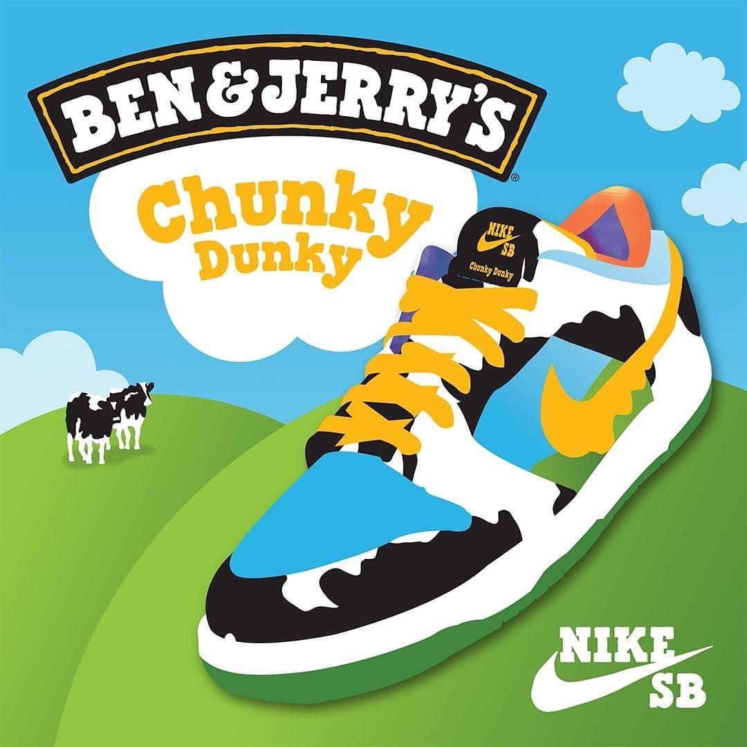 NIKE SB DUNK LOW PRO BEN & JERRY'S CHUNKY DUNKY ナイキSB ダンクロープロ ベン&ジェリーズ チャンキーダンキー CU3244-100