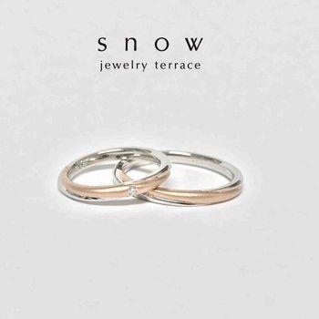 ピンクゴールドとプラチナの2色結婚指輪婚約指輪 (2).jpg