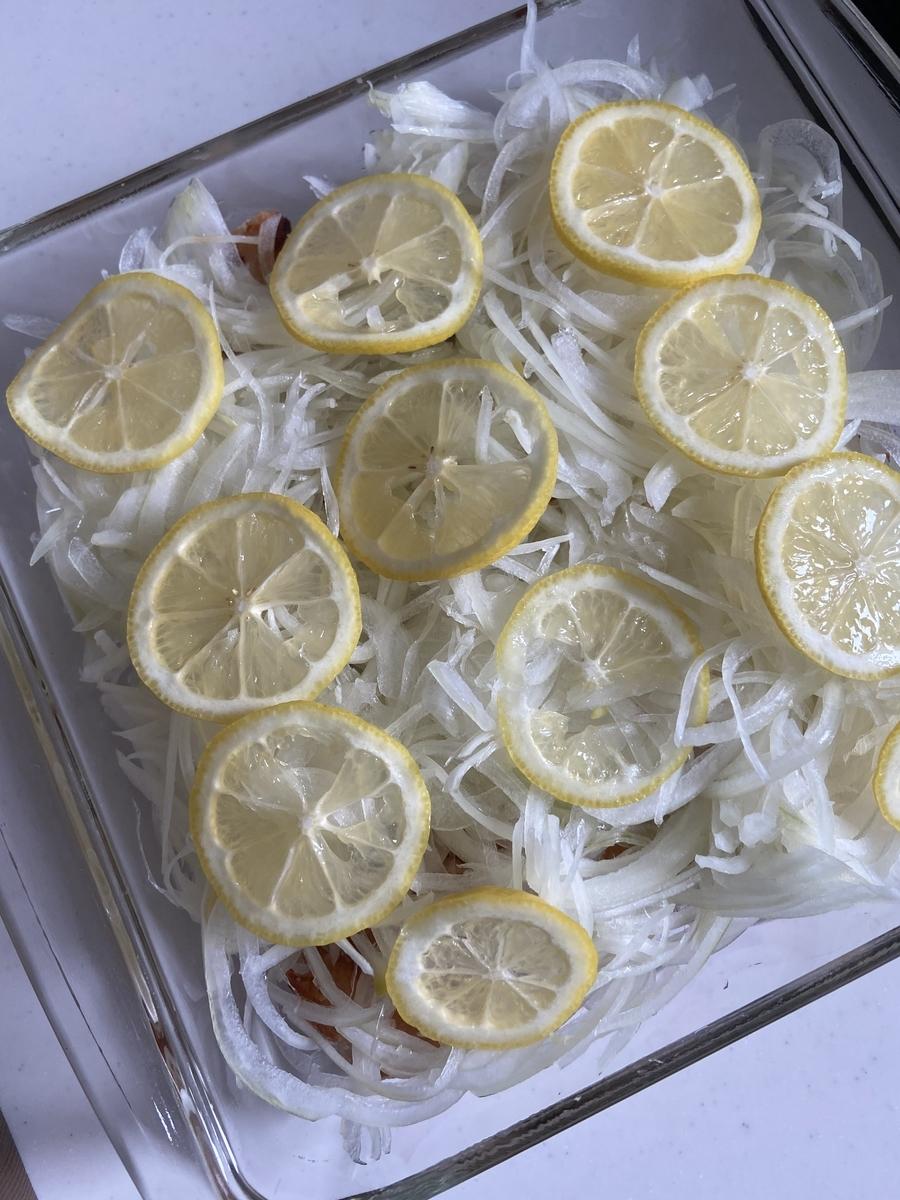 鶏むね肉のレモン風味の南蛮漬け 簡単 レシピ