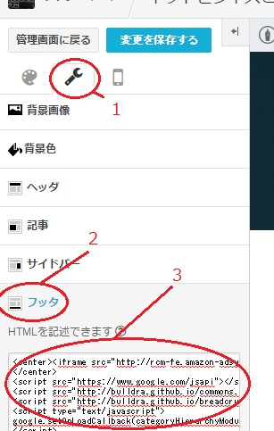 はてなブログのHTML編集画面