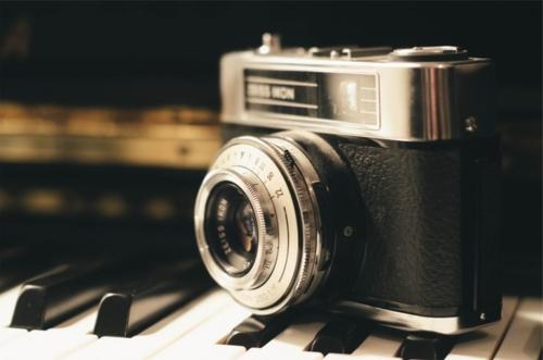 レトロなカメラの画像
