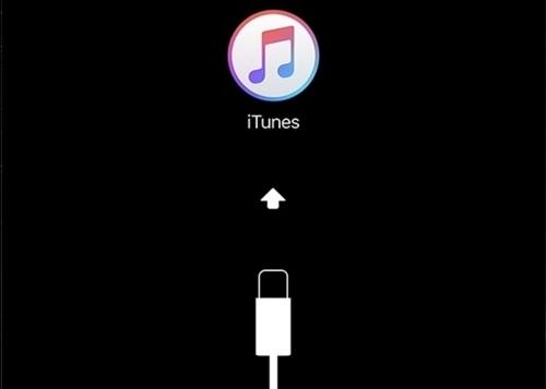 iPhoneをiTunesに接続画面