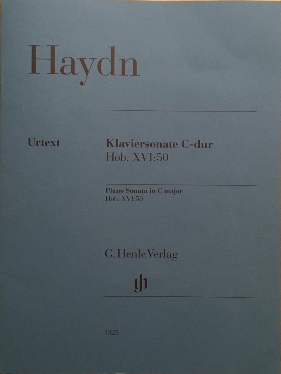 ハイドンのピアノソナタ50番の楽譜。ヘンレ版。