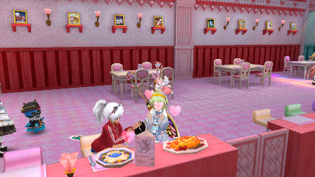 YOMEちゃんと食事中2