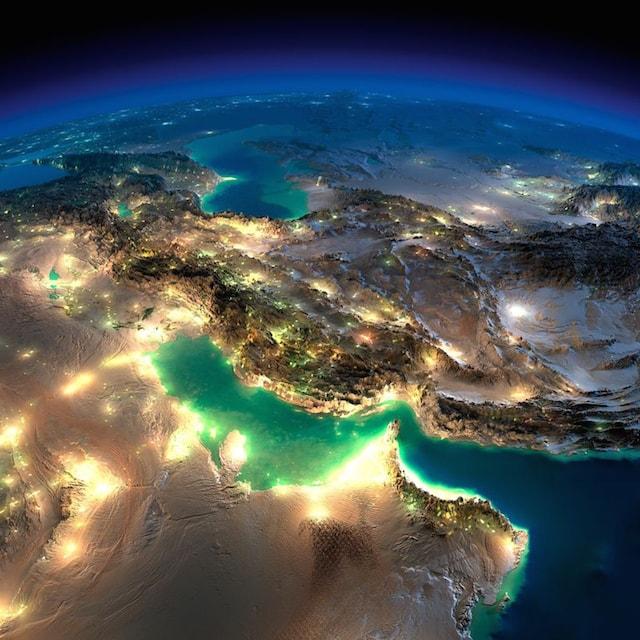 NASA撮影の夜の地球3
