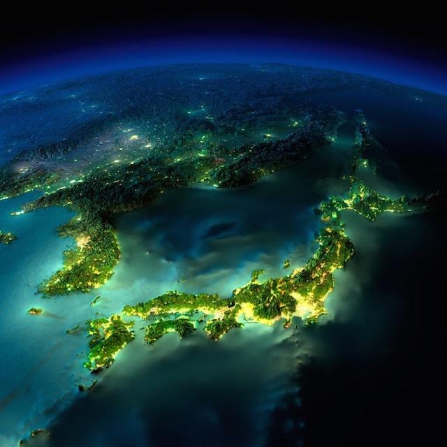 NASA撮影の夜の地球4