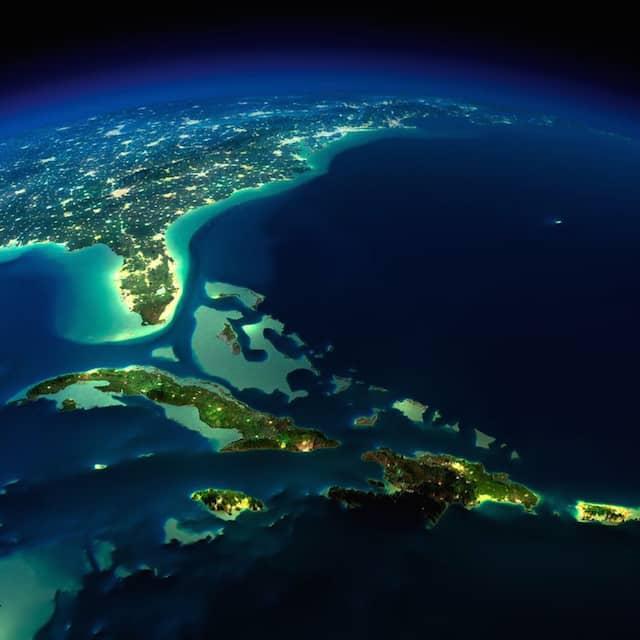 NASA撮影の夜の地球5