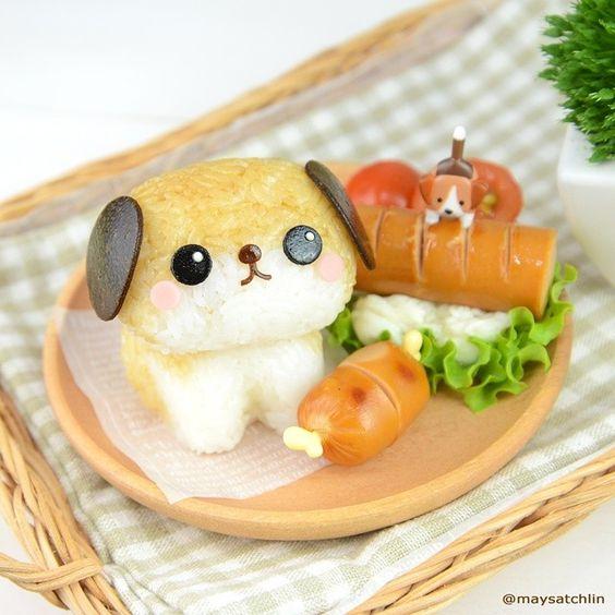 ウインナーの飾り切り・可愛い犬のキャラ弁