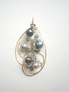 14金ゴールドフィル・南洋バロック真珠のペンダントトップ