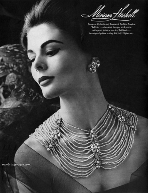 ハスケル・ジュエリーの美しい当時の広告