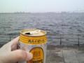 梅雨入り前の休日に横浜の港でかんぱーい!(真っ昼間からベロベロw