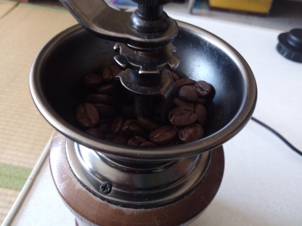 オーロラコーヒー豆のアップ