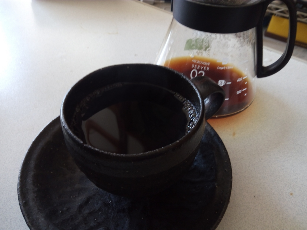 オーロラコーヒーを淹れた