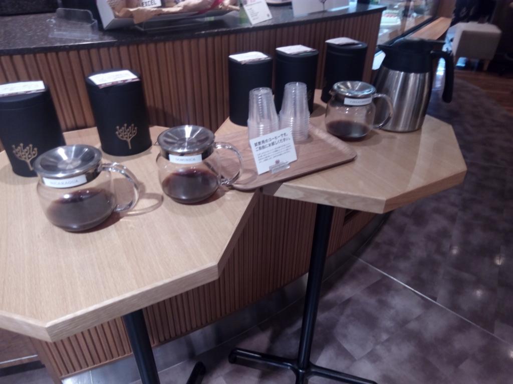 CAFE LEXCELの試飲コーナー