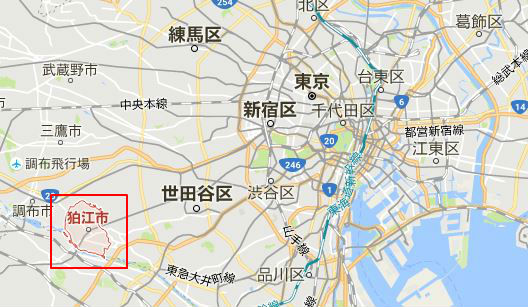 狛江市の場所