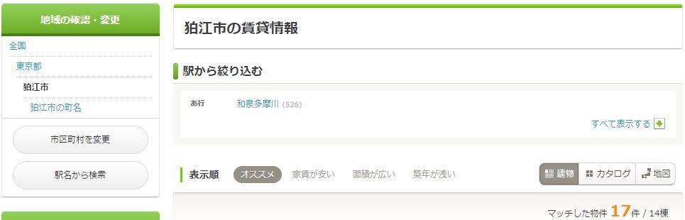狛江市の格安賃貸物件