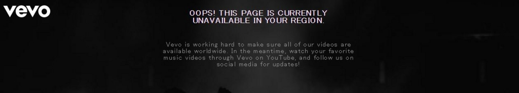 vevoのサイトにアクセスできない