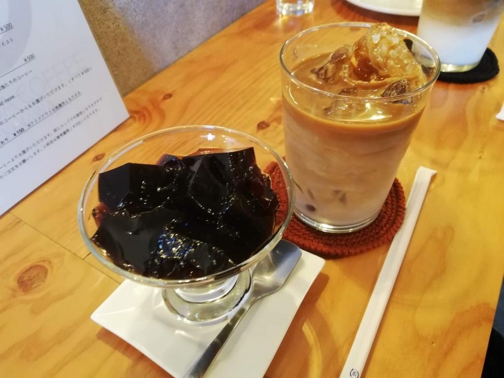 YAMADA COFFEEのカフェオレとコーヒーゼリー