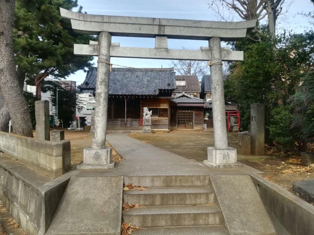狛江の子ノ権現三島神社の鳥居