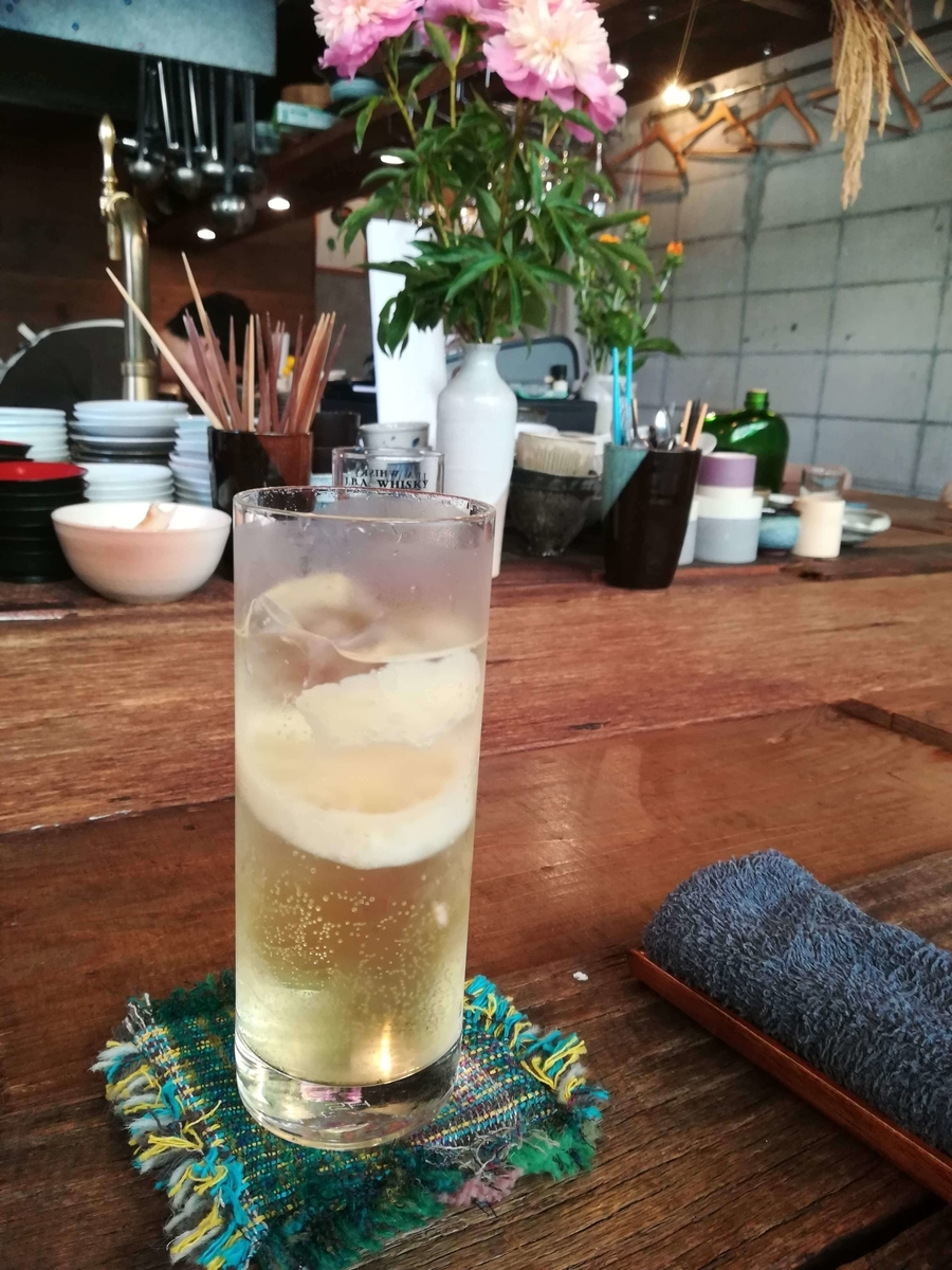 「お酒と料理 えいよう」の自家製レモンサワー