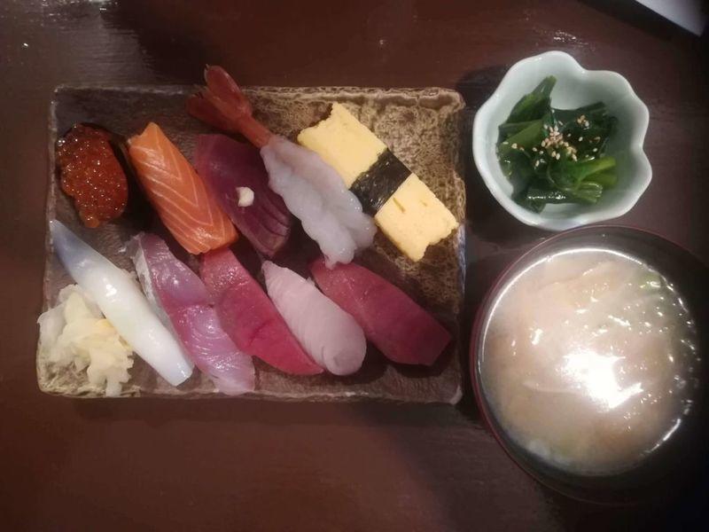 縁裕の寿司ランチセット