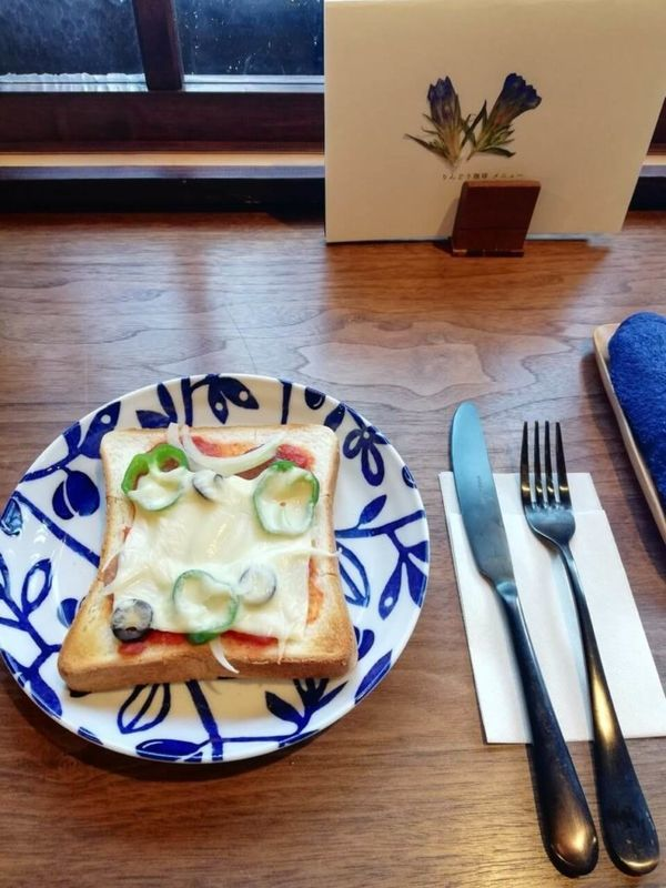 胡桃堂喫茶店のりんどう珈琲トースト