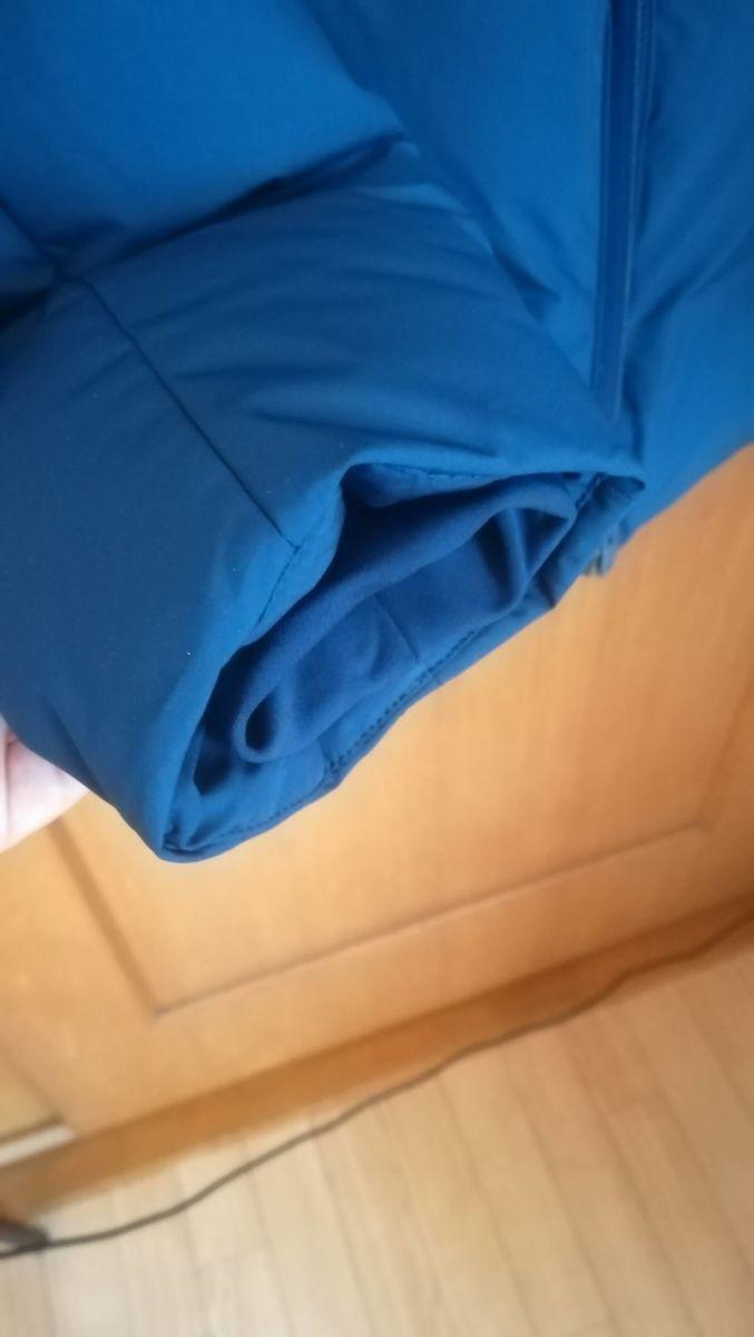 シームレスダウンパーカ(3Dカット)の袖