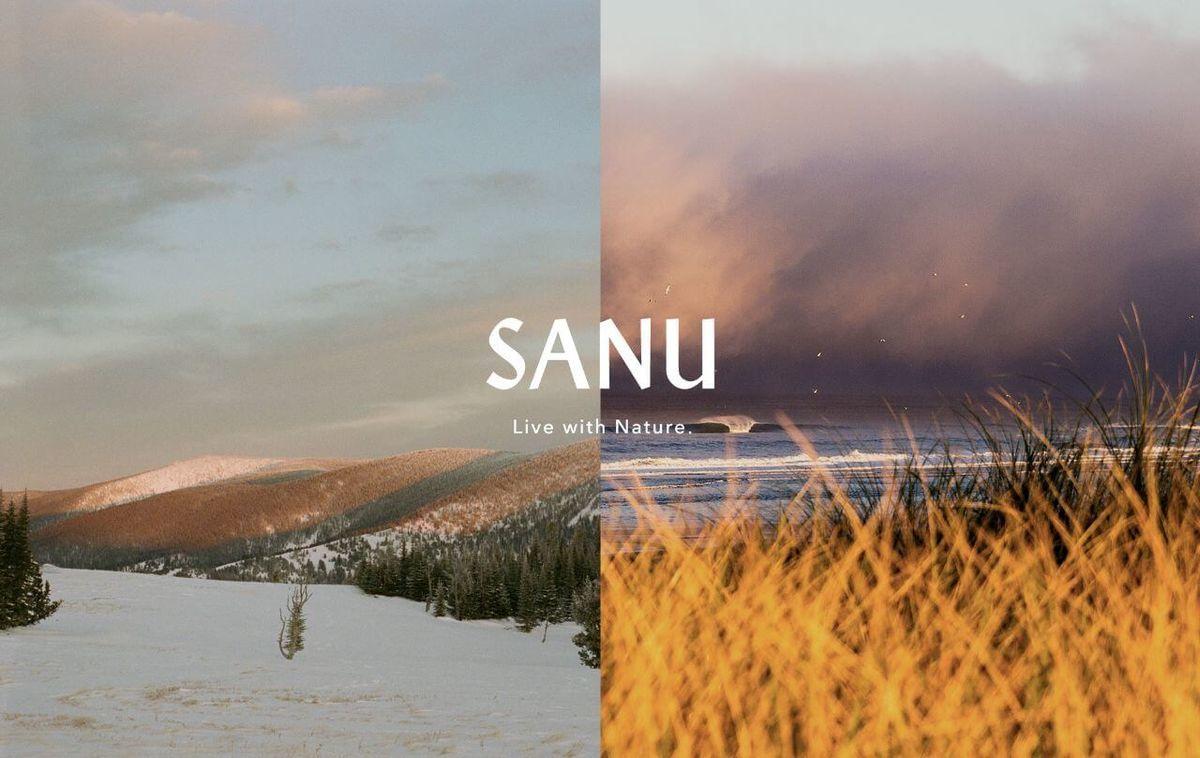 ライフスタイルブランド「SANU」のロゴ