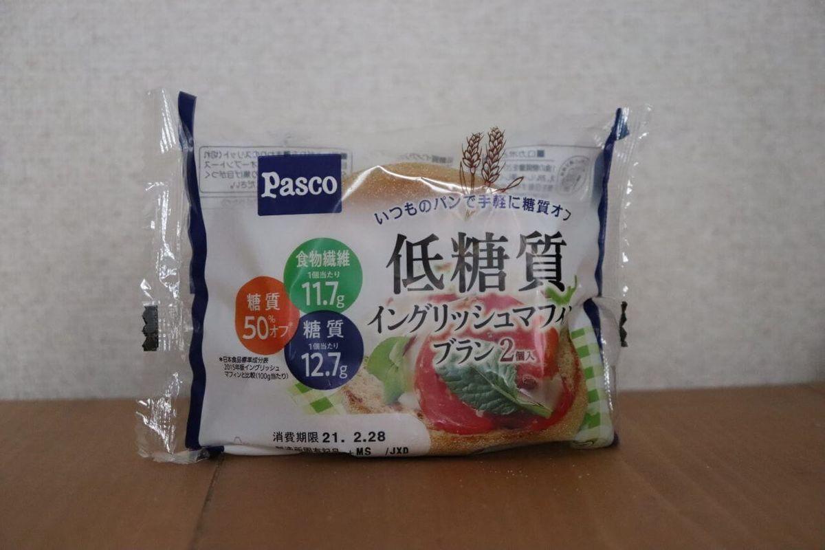 PASCO「低糖質イングリッシュマフィン ブラン」のパッケージ