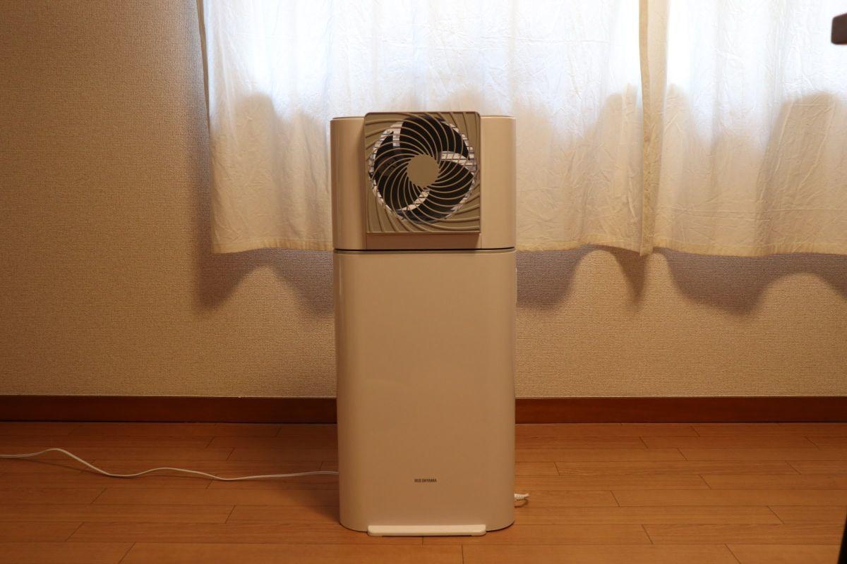 アイリスオーヤマの「サーキュレータ衣類乾燥除湿器 IJD-I50」