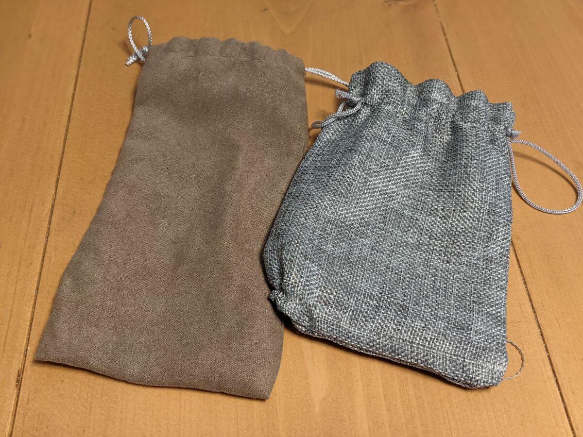 電熱式ホットアイマスクを収納する付属の巾着