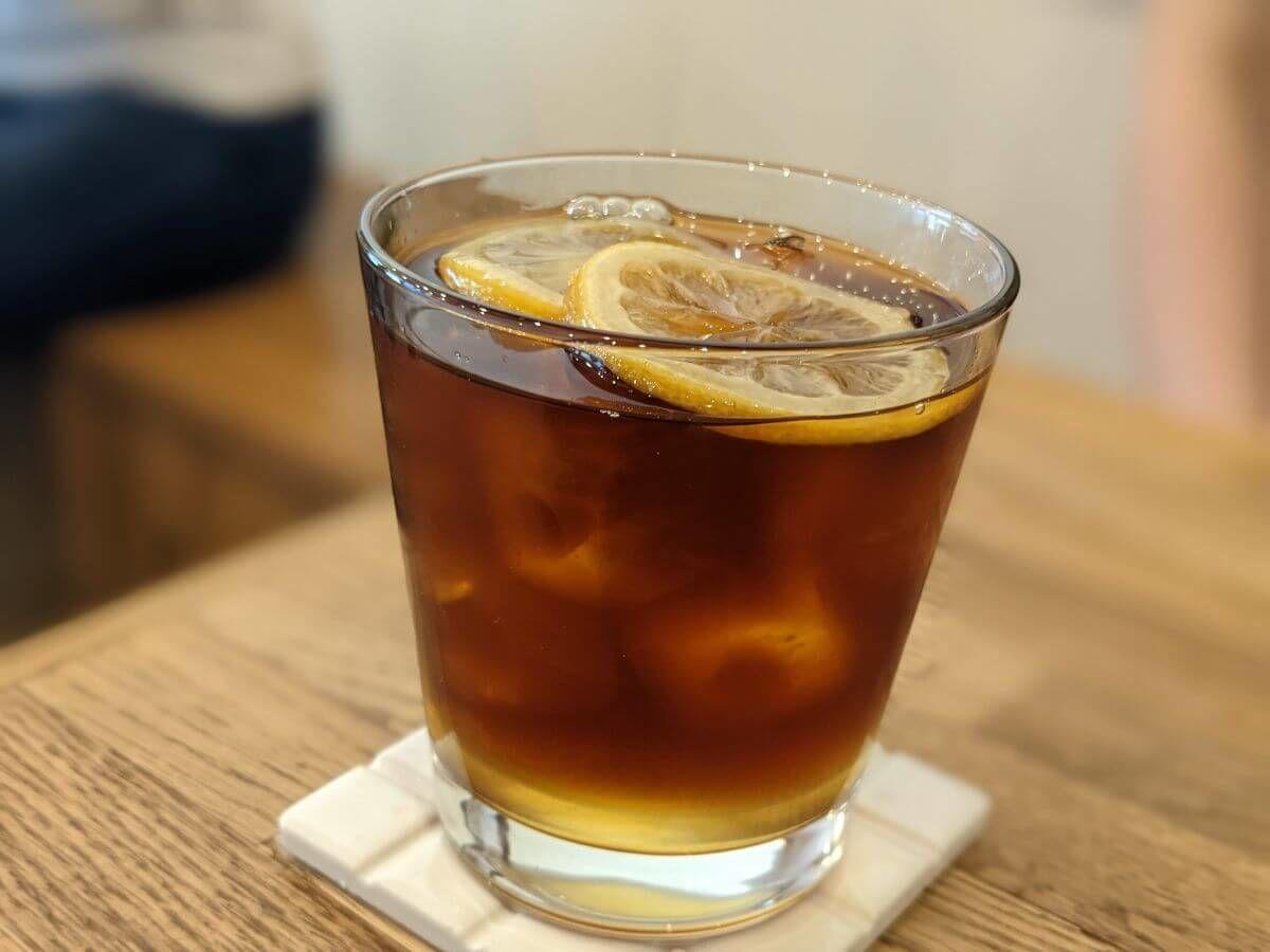 NORIZ COFFEEのレモンアイスコーヒー