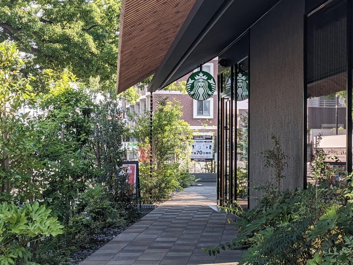 スターバックスコーヒー西東京新町店の入り口