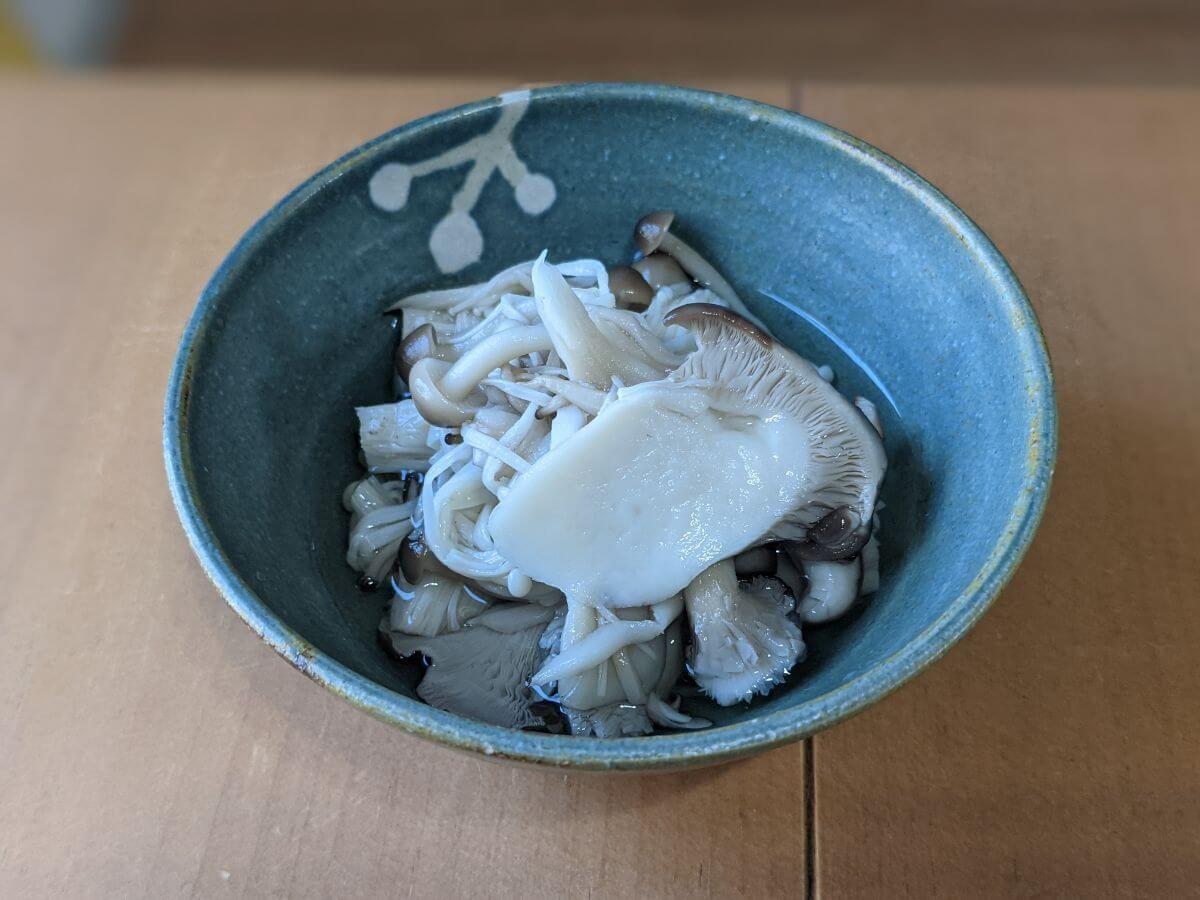 キノコの煮浸しの画像