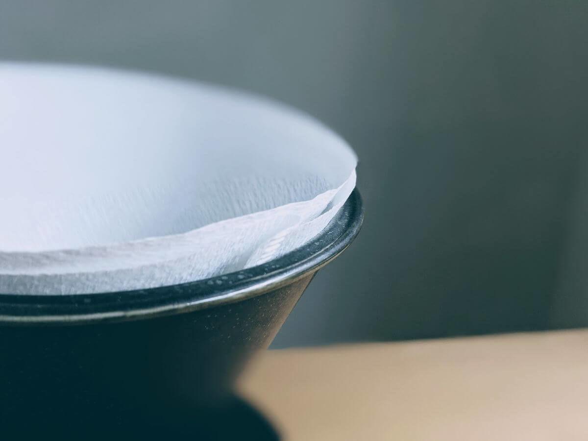 ペーパーフィルターを二重にしたコーヒードリッパー