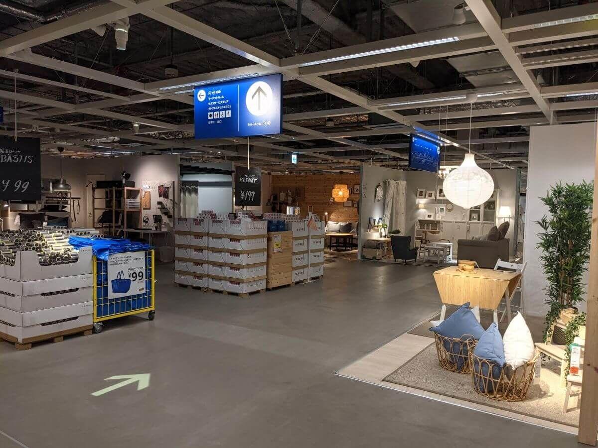 IKEA仙台の店内