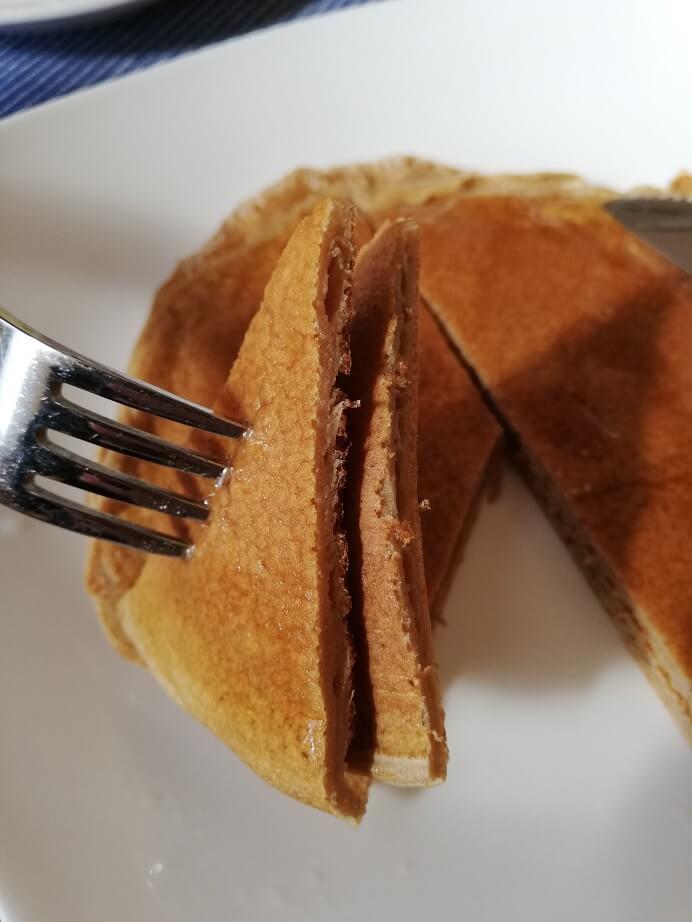 マイプロテインのパンケーキ食べる所